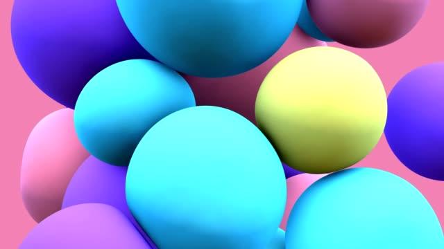 vídeos de stock, filmes e b-roll de balão colorido que flutua no movimento - flutuando no ar