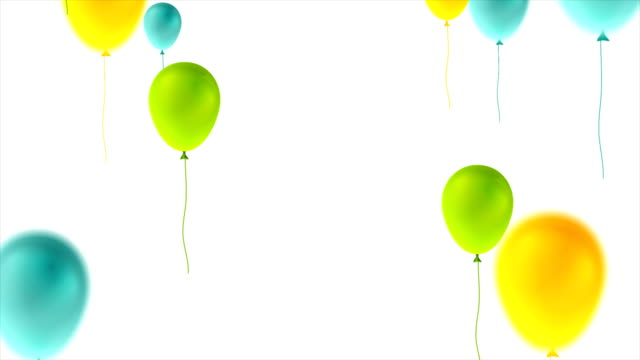 Colorful balloons happy birthday abstract video animation Colorful balloons happy birthday abstract motion graphic design. Seamless looping. Video animation Ultra HD 4K 3840x2160 happy birthday stock videos & royalty-free footage