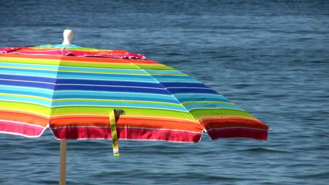 Colorful Beach Umbrella video
