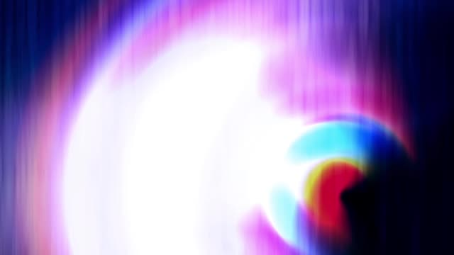 Colorful beam moving continuously