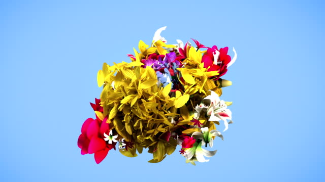 vídeos de stock e filmes b-roll de colorful big flowers background in 4k - surrealismo
