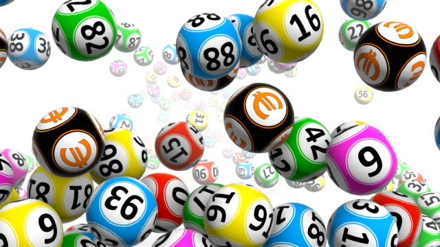 colorful bingo balls - bingo video stock e b–roll