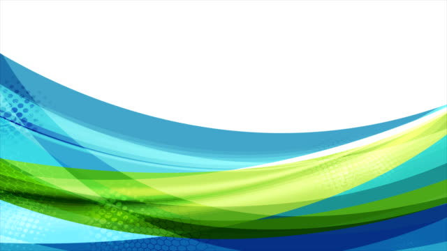 colorful blue and green abstract waves video animation - banner internetowy filmów i materiałów b-roll