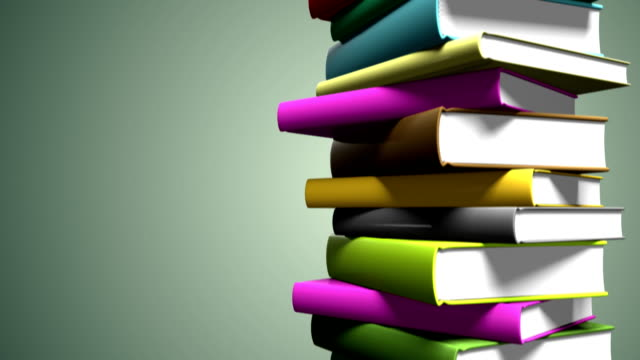 Colorful Book Stack - Loopable video