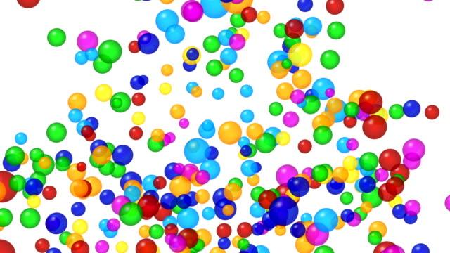 Explosion de bulles colorées. Canal alpha, 4K - Vidéo
