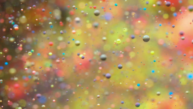 Colorful Bubbles Oil Beautiful Paint Multi Colored Universe Moving. Space Galaxy Planets. Nebula Space Stars Planets. Milky Way. Surface Universe Moving. Bright Holiday Background Christmas.