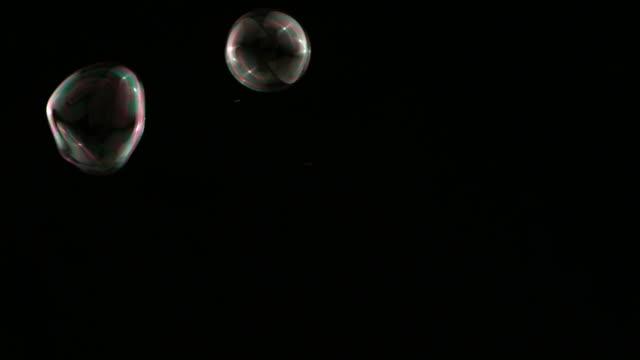 Colorful bubbles video