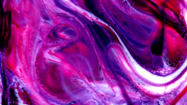 colorful chaos ink spread in liquid turbulence movement - abstract nature stock videos & royalty-free footage