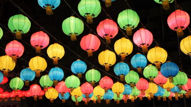 Colorful Chinese lantern. video