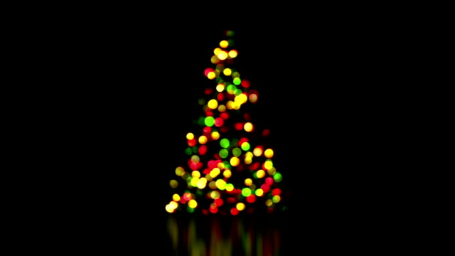 colorful christmas tree lights out of focus loop video