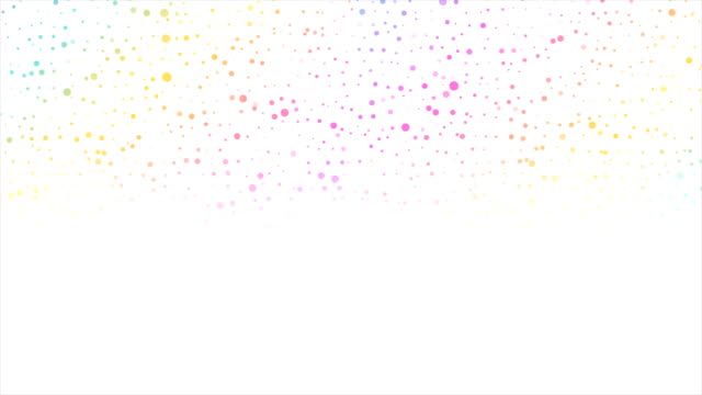Colorful circle dots abstract technology video animation