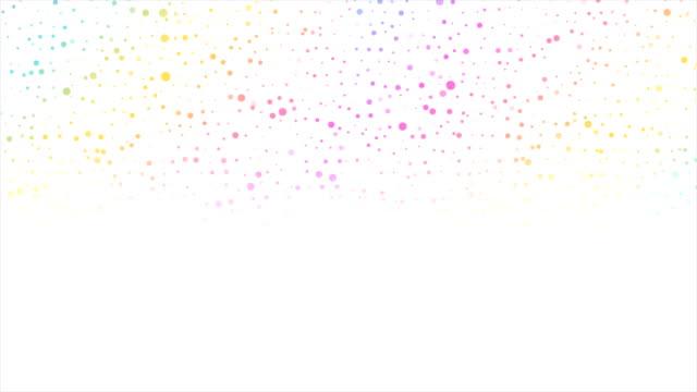 vídeos y material grabado en eventos de stock de círculo colorido puntos tecnología abstracta animación de vídeo - blanco color