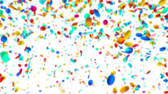 Colorful circles confetti falling animation video
