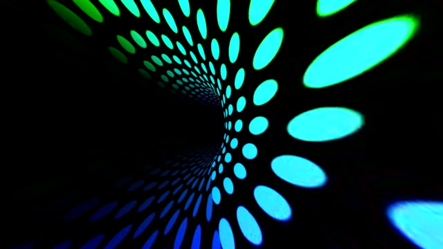 Colorful circles tunnel
