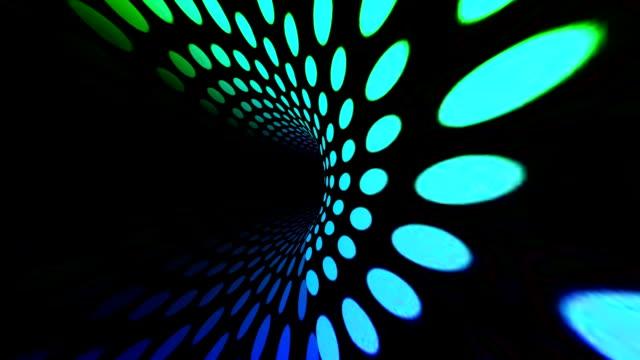 vídeos de stock, filmes e b-roll de túnel de círculos coloridos - rollercoaster