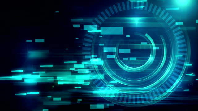 colorful circular geometric grid  and blur abstract background video