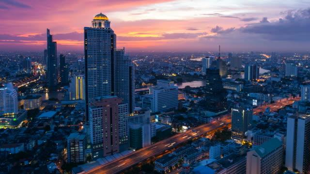 Colorful city skyline - Bangkok video