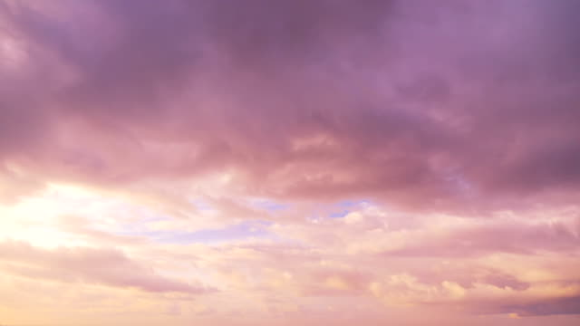 Colorful cloudscape changing in time lapse video in 4k Colorful cloudscape changing in time lapse video in 4k pink color stock videos & royalty-free footage