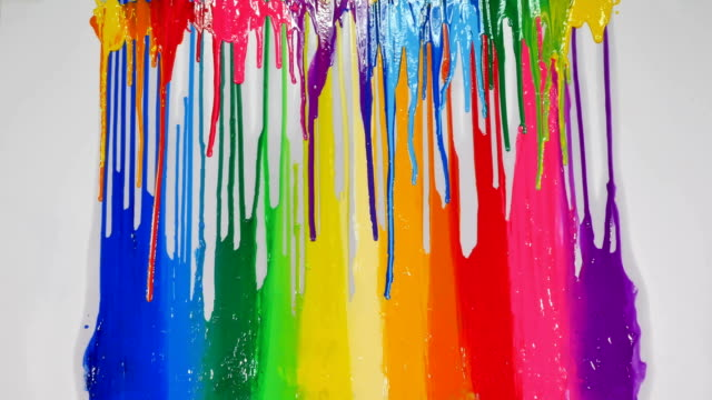 colorful colors are dripping - vernice video stock e b–roll