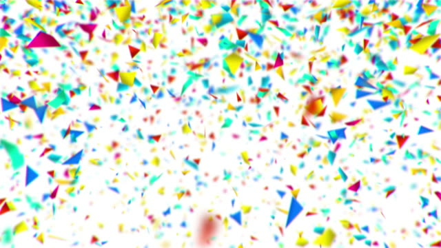 Colorful confetti animation video