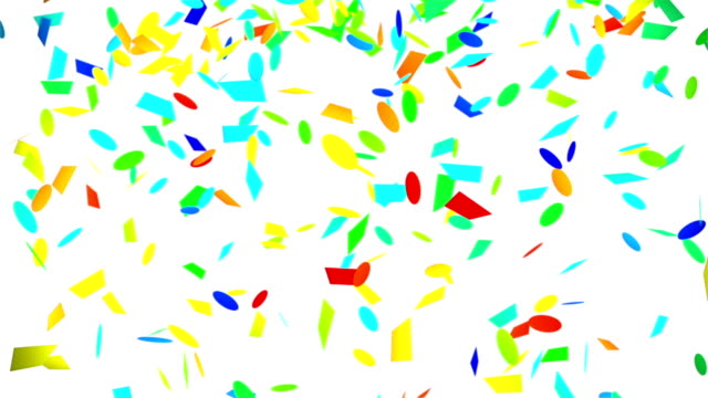 colorful confetti falling seamless loop with luma matte video