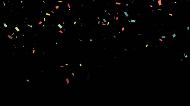 Colorful confetti for party with alpha channel video.Celebration element concept