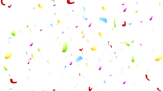 Colorful confetti video animation Colorful confetti festival motion design. Video animation HD 1920x1080 birthday background stock videos & royalty-free footage