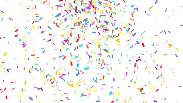 Colorful confetti Animation of colorful confetti falling carnival celebration event stock videos & royalty-free footage