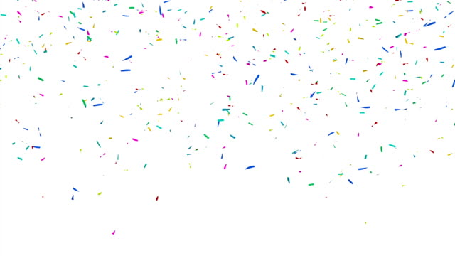 Colorful Confetti Video - Slow Motion video