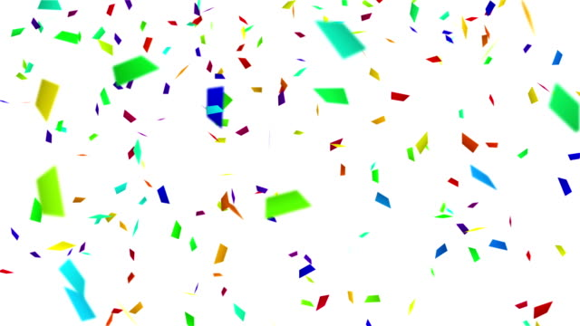 colorful confetti with luma matte loopable backgeound video