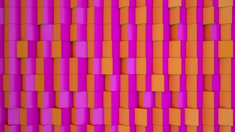 vídeos de stock e filmes b-roll de coloridos cubos - forma