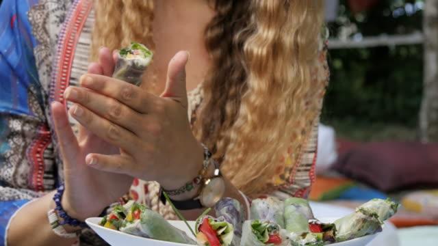 カラフルな料理生菜食食品 - ローフード点の映像素材/bロール