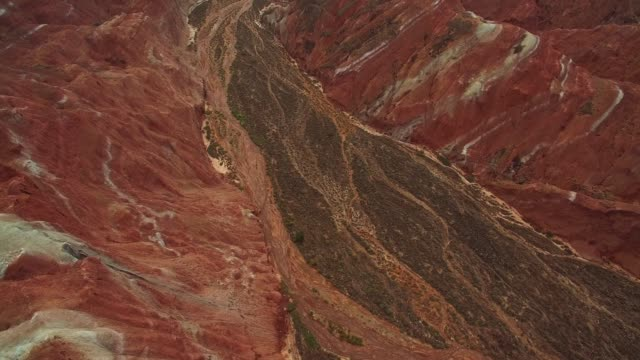 Colorful danxia rock formations of Zhangye National Geopark