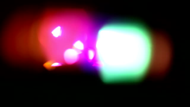 Colorful disco lights video