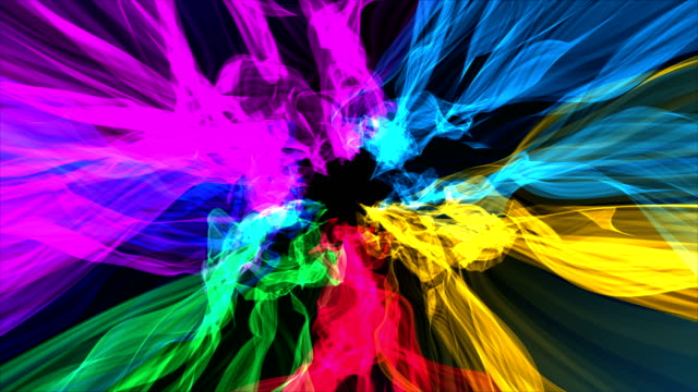 Colorful Distorted Ribbons Backgrounds video