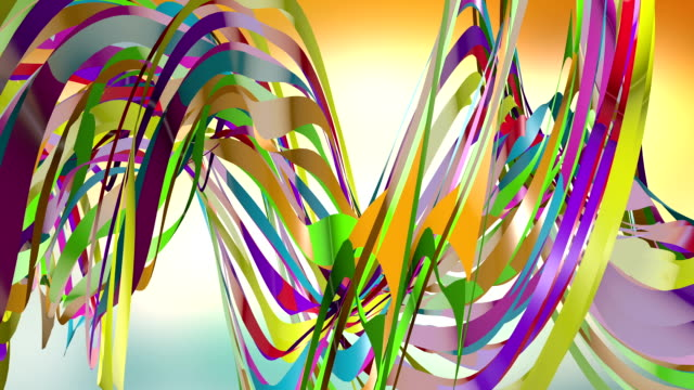 Colorful Distorted Ribbons Flowing In The Air video