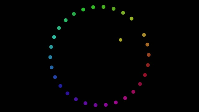vídeos de stock e filmes b-roll de colorful dots abstract rotation connected - sarapintado