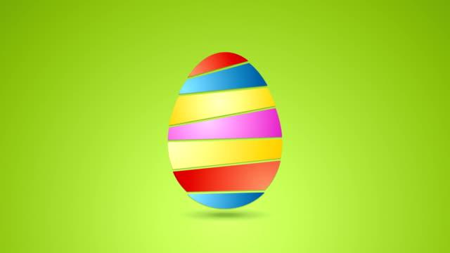 vídeos de stock, filmes e b-roll de colorido abstrato animação de vídeo de páscoa com ovos - clipe