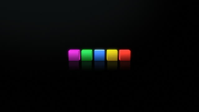 Colorful, editable, 3D interface menu / preview darker than video video