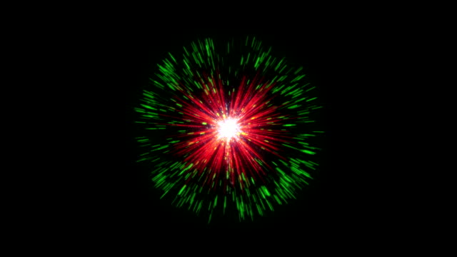 Colorful firework against black background video