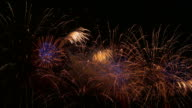 istock Colorful fireworks at night 1150955749