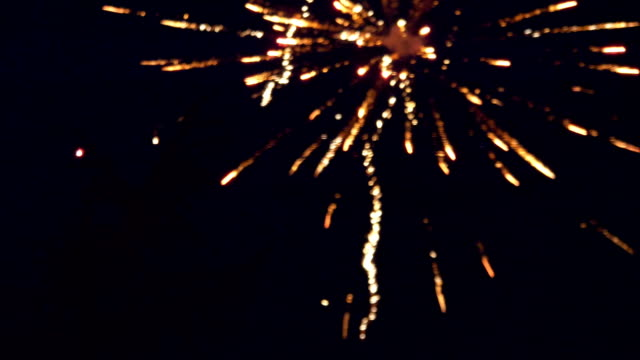 Colorful Fireworks Display Night Background in 4K slow motion 60fps video