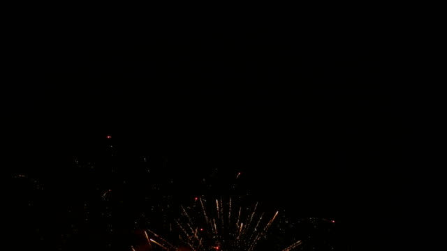 Colorful fireworks, night video