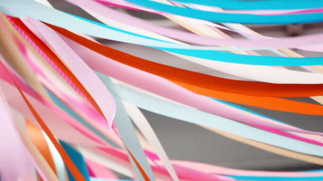 Colorful flowing ribbons abstract background video