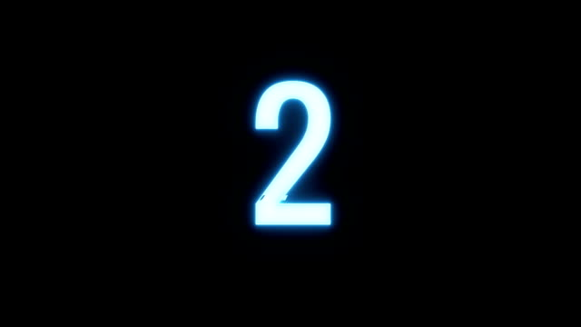 colorful futuristic laser glitch interference countdown numbers from 3 to 1 new dynamic holiday joyful techno video footage - conto alla rovescia video stock e b–roll