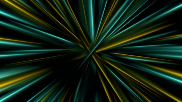 Colorful glowing abstract smooth beams video animation video