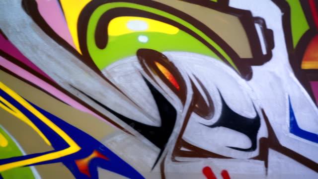 Colorful graffiti mural