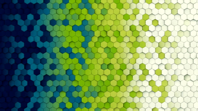 Colorful hexagon pattern seamless loop abstract 3D animation video