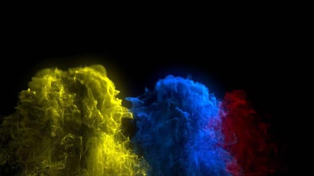 Renkli mürekkep damlaları arka plan video