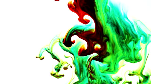 Colorful Ink Drops in Water video